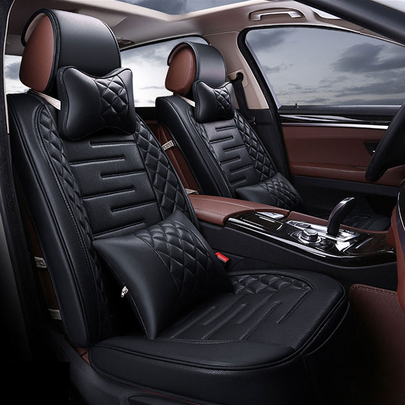 New Luxury Four Seasons Top Grade Pu Leather Breathable Comfortable Most Gm Car Interior Seat Covers Black Beige Coffee Red In Automobiles