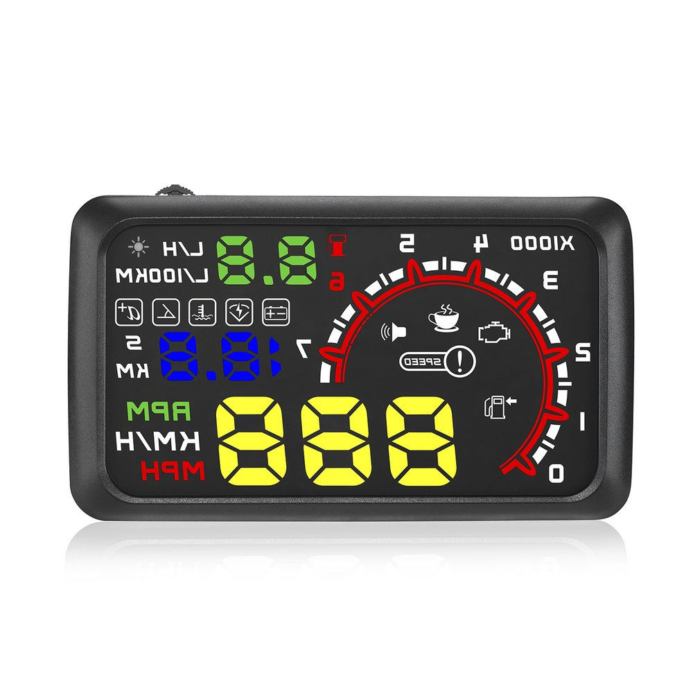 Universal Car HUD Head Up Display Projector 5.5 Inch OBD 2 Interface Speeding Warning Alarm System Digital Car Speedometer HOT