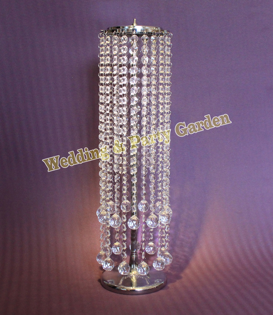 Free Shipping Crystal Table Top Chandelier Wedding Table Centerpieces  Flower Vase Stand Wedding Decoration 15pcs/
