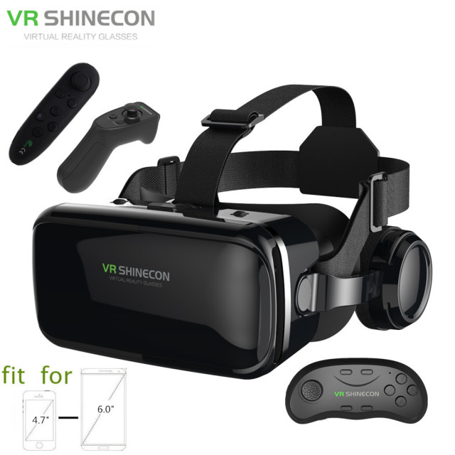 7208a98ef28 3D Glasses Box VR Headset Shinecon G04E Helmet Virtual Reality Goggles With  Headphone PK BOBOVR Z4 For 4.7-6.0