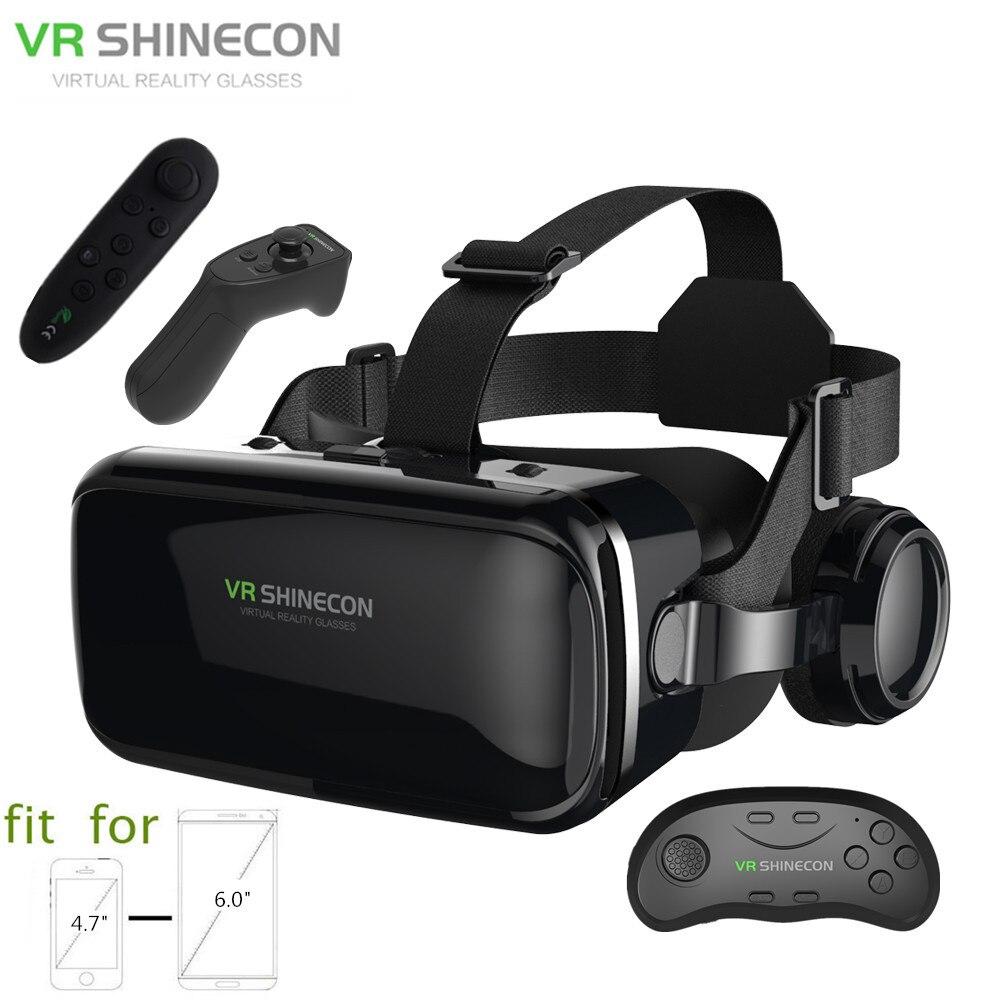 3D lunettes boîte VR casque Shinecon G04E casque lunettes de réalité virtuelle avec casque PK BOBOVR Z4 pour 4.7-6.0