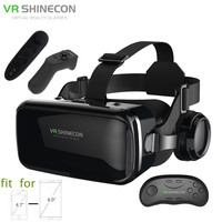 3D Glasses Box VR Headset Shinecon G04E Helmet Virtual Reality Goggles With Headphone PK BOBOVR Z4