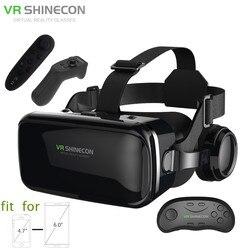 Pudełko na okulary 3D zestaw do wirtualnej rzeczywistości Shinecon G04E kask gogle wirtualnej rzeczywistości ze słuchawką PK BOBOVR Z4 na 4.7-6.0