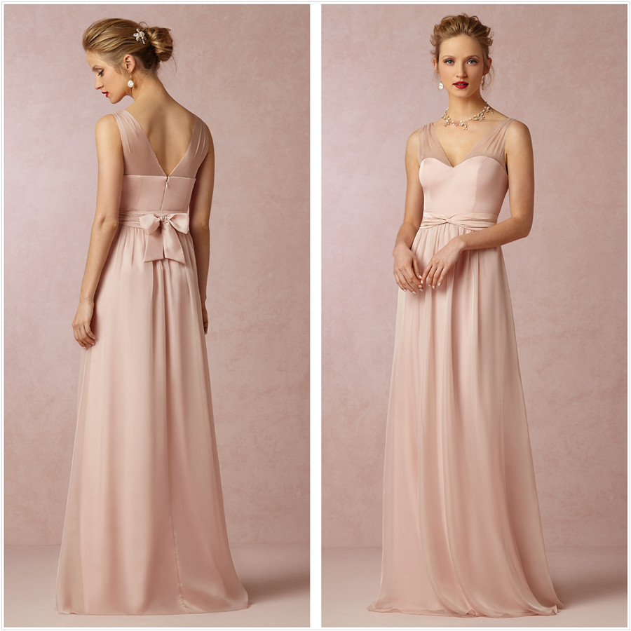 Bridesmaid Dresses Under 150. Empire Chiffon Vneckline Sleeveless ...