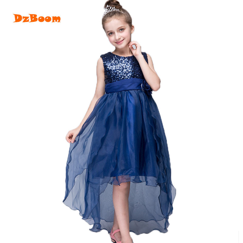 DzBoom Summer Kids Dress For Girls 2017 Princess Wedding Party Dresses Girl Clothes 3-12 Years Dress Spring Children Clothing