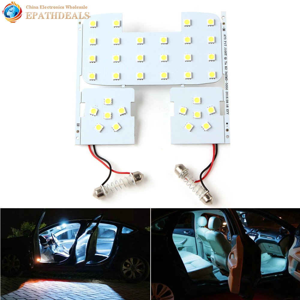 3pcs! White LED Auto Car Reading Interior Light Panel Dome Lamp For KIA RIO K2 2006-2012/Hyundai Solaris Accent cawanerl car 5630 smd led kit package for toyota rav4 2006 2012 auto map dome courtesy cargo light white interior led bulb