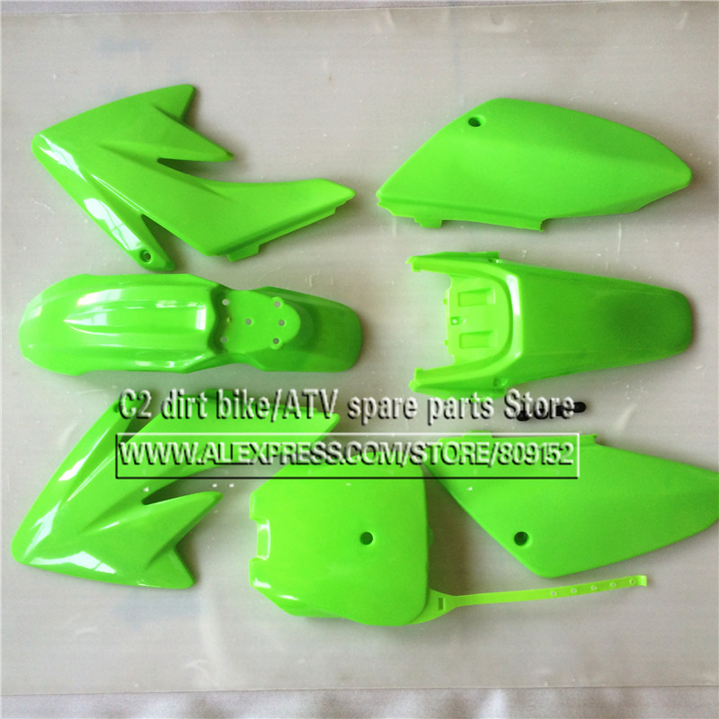 цена на CRF 70 Plastic covers Fairing Kits CRF70 dirt Pit Bike Procket Bike Xmotos Baja DR50 49 50cc 70 90 110 Kayo HK 160