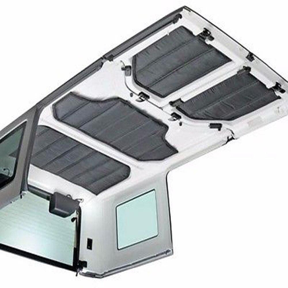 Chuang Qian voiture accessoires Hardtop isolation sonore et thermique coton Kit de protection 4 portes pour Jeep Wrangler JK 2011-2017