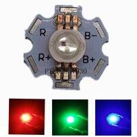 10 ピース 3 ワット RGB 色ハイパワー Led チップライト 6 ピン 6pin と 20 ミリメートル白アルミ PCB rgb Led ランプ