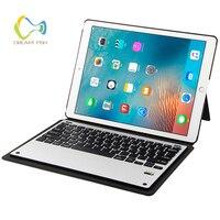 Cover for IPad Pro 12.9 Case Bluetooth 3.0 Aluminum Keyboard + PU Auto Sleep Wake Case For Ipad Gadget Estuches A1670 A1584