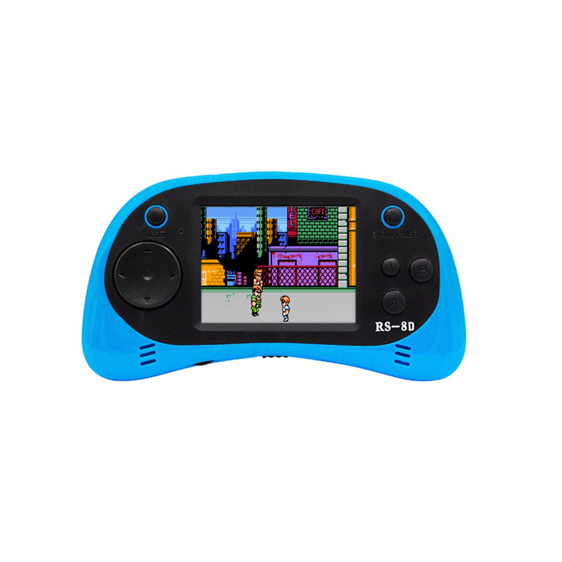 RS-8D Video Game Console 8 Bit 2.5 inch Portable Video Handheld Game Player Built-in 260 Different Color Retro Game N15C