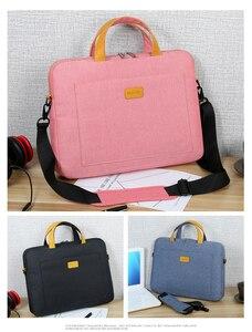 Image 5 - 13 14 15.6 Man Felt Shoulder Handbag Notebook Laptop Sleeve Bag Pouch Case For Xiaomi Acer Dell HP Asus Lenovo Macbook Pro Air