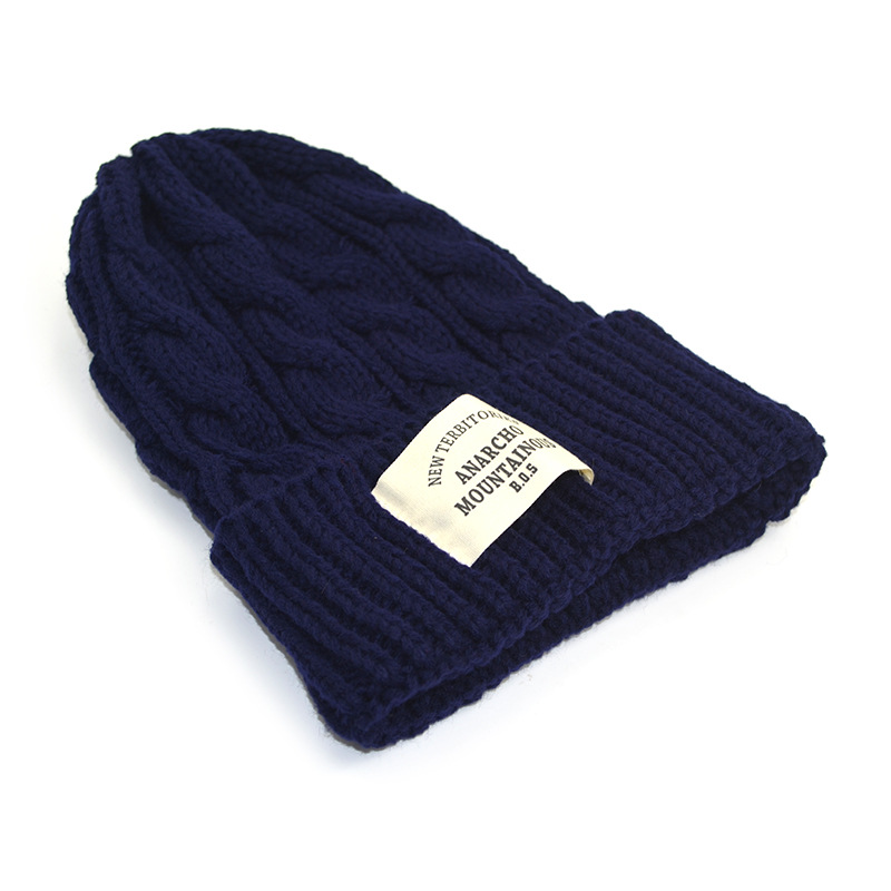 Warm knit hat female version of the monochrome curling couple wool hat fashion accessories hat Skullies cap hat 2017 of the latest fashion have a lovely the hat of the ear lovely naughty lady s hat women s warm and beautiful style