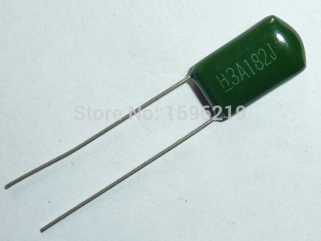 10pcs Mylar Film Capacitor 1000V 3A182J 1800pF 1.8nF 3A182 5% 1KV Polyester Film Capacitor