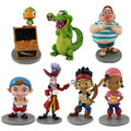 New 7pcs/set Anime Cartoon Jake and The Neverland Pirates PVC Action Figure Toys