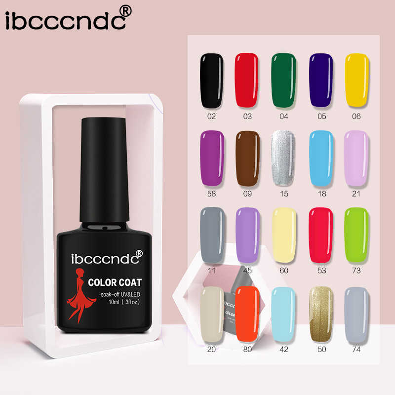 Nova Ibcccndc 80 Cores 10 ml UV LED Soak-off Gel Nail Polish Nail Art Permanente Semi Vernizes Gel gel unha Polonês Gel Lak