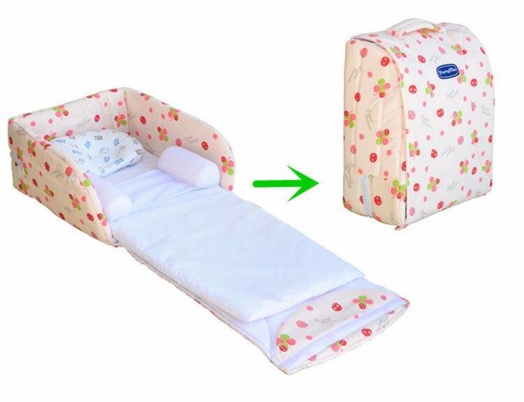 2019 nouveau-né bébé berceaux berceau sécurité infantile Portable lit pliant lit parcs lit enfant confort station pour 0-6 mois