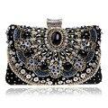 Diamantes de lujo de Las Mujeres Rhinestones Bolsos de Noche Pequeños Bolsos Retro Cristal de la Cadena Embragues del Día Bolsas de Hombro Señora Monedero de La Boda