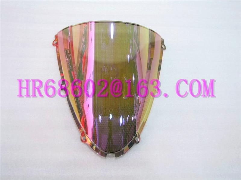 HotSale For Kawasaki ZX6R 636 2005 2006 2007 2008 05 06 07 08 ZX10R 2006 2007 06 07 Iridium Windshield WindScreen Double Bubble