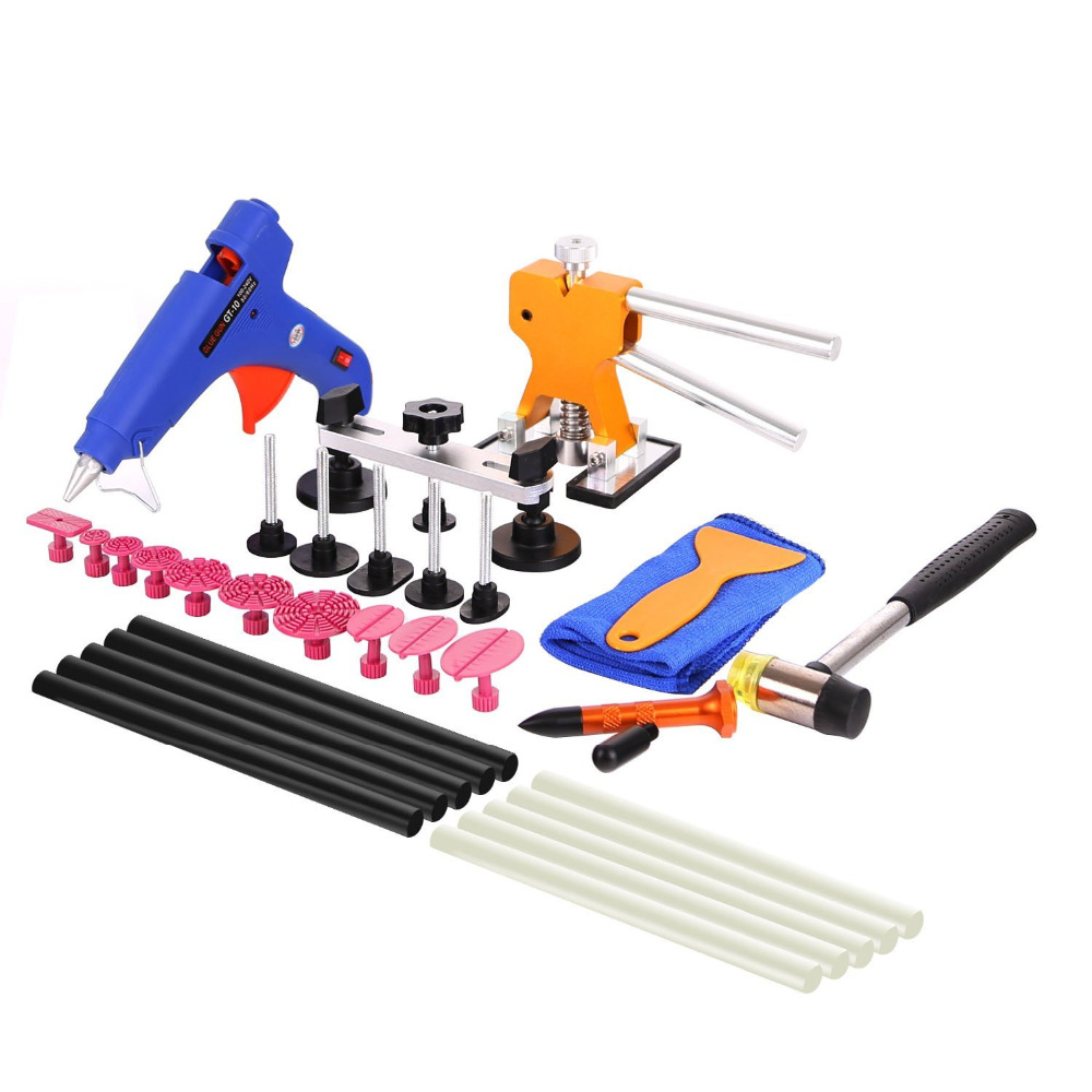 WHDZ 35pcs PDR Tools Car Dent Remover Kit Dent Lifter Paintless Dent Hail Removal Repair Tools Glue PDR Tool Kit PDR Pro Tabs  35pcs pdr tools car dent remover kit dent lifter paintless dent hail glue pdr tool kit pdr pro tabs tap down bridge puller