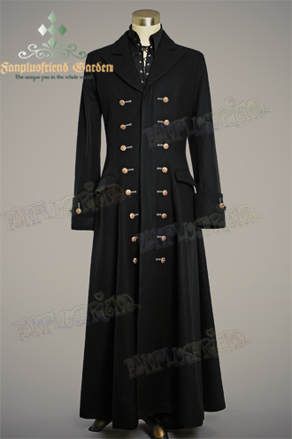 51856161d76a Victorian Elegant Gothic, Thick Wool Buttons Ornamental Frock Coat for  Man*Ankle Length