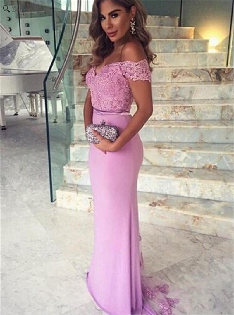 Dorable Vestido De La Dama Un Hombro Púrpura Galería - Colección del ...