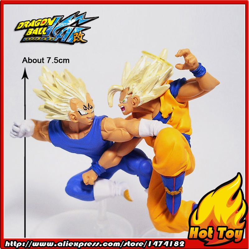 100% Original BANDAI Gashapon PVC Toy Figure HG Part 16 - Son Goku & Vegeta from Japan Anime Dragon Ball Z 100% original bandai gashapon figure hg part 20 goku super saiyan special ver from japan anime dragon ball z 9cm tall