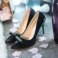 2016 Mujeres del Otoño zapatos de las mujeres, señaló zapatos de tacón alto con superficial temperamento carrera con los solos zapatos