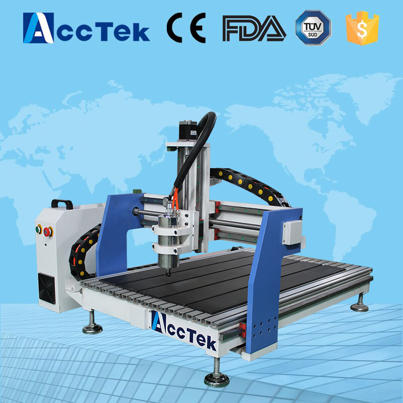 AccTek hot sale USB interface shandong cnc router 6090/6040/4040 for wood aluminium acrylic plastic discount cnc aluminium router 6090