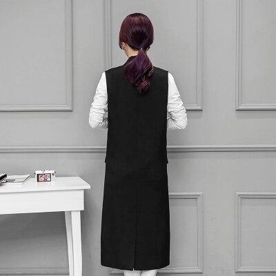 Femmes Gilet Boutonnage Noir D'hiver Feminino 2018 106 Colete Nouveau Manteau Printemps Double Veste Manches Long Femme Sans Cm 7P6UEt