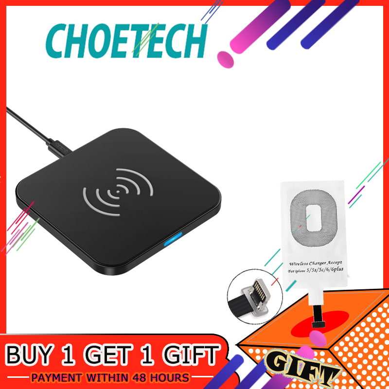 CHOETECH Anti-Slip Rubber Wireless Charger 7.5W Qi Charging Pad With Micro USB Cable For Galaxy S7 Edge/S6 Edge/For Nexus 4/5/6 Зарядное устройство
