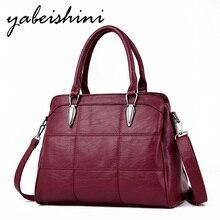 Premium lady handbag sorr retro shoulder bag leather Messenger Solid color large wallet Womens 2019 hot sale