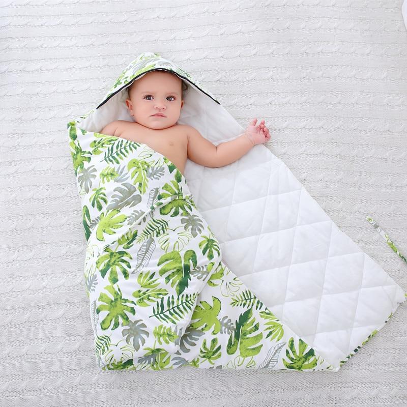 Купить с кэшбэком Newborn Whiter Baby Blanket Wrap Double Layer Fleece Baby Swaddle Bebe Envelope Sleeping Bag for Newborns Baby Bedding Blanket