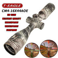 Hot new T-Eagle CM4-16x44AOE Tactical RiflesScope  AirRifle sniper Optics Rifle Scopes sight camouflage HD R/G Hunting Scopes