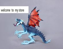 solid pvc figure Genuine simulation model toy fly dragon