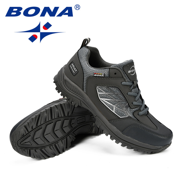 BONA New Classics Style Men Hiking Shoes Action Leather Men Sport Shoes Outdoor Jogging Shoes Comfortable Fast Free Shipping