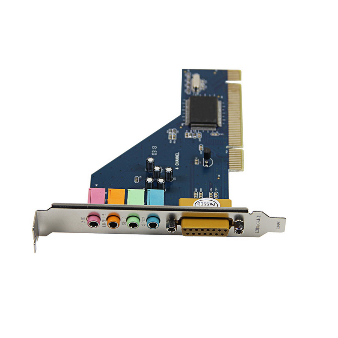 Etmakit Hot Sale High Quality 4 Channel 8738 Chip 3D Audio Stereo PCI Sound Card for Win7 64 Bit