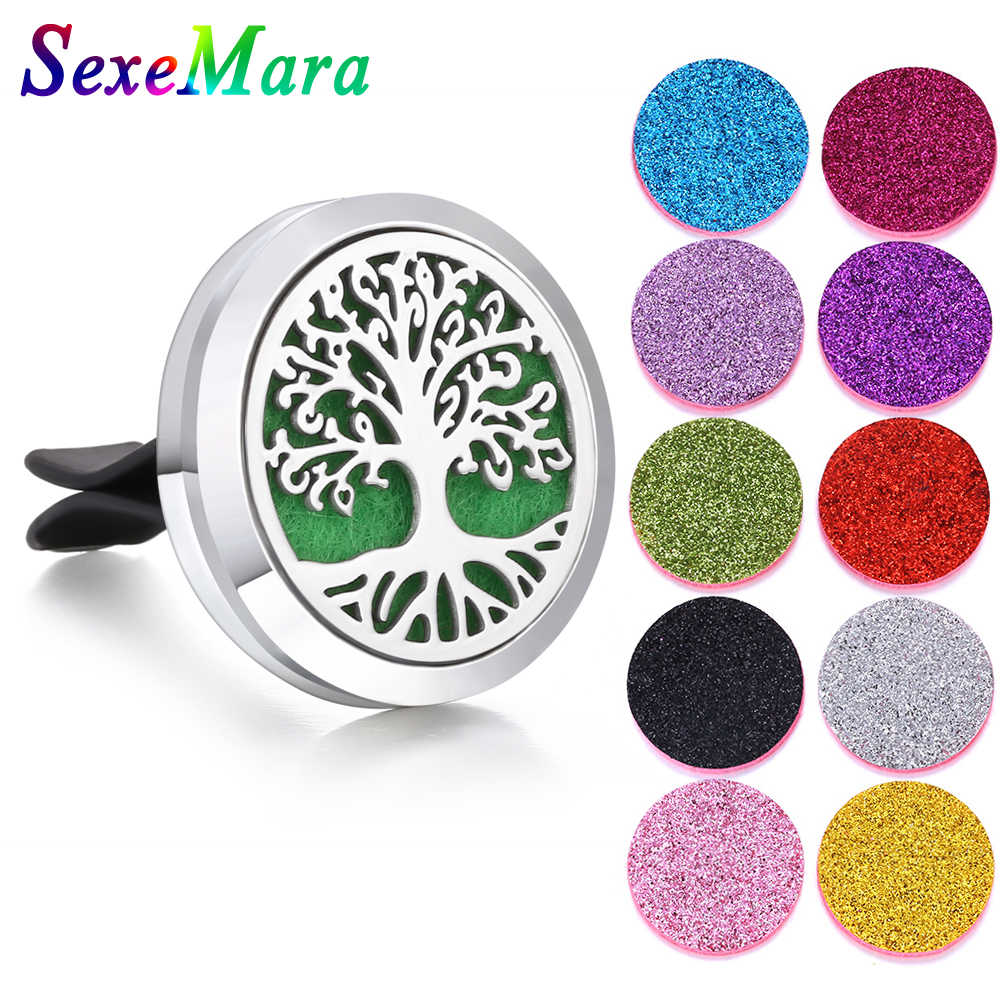 Aromatherapy Jewelry Car Perfume Diffuser Stainless Steel Cat Vent Freshener Car Essential Oil Diffuser Perfume Necklace Locket