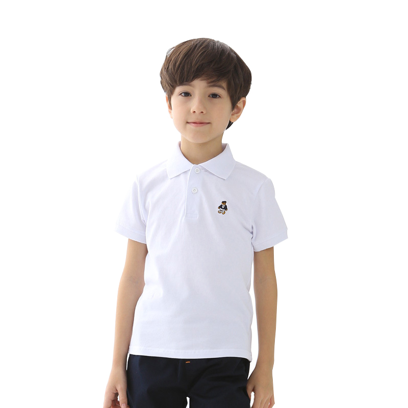 2018 High Quality Boys Polo Shirt Baby Kids Letter Print Clothes Summer Short Sleeve 100% Cotton Solid Casual Tops Tees mens casual 3d personality skull printing short sleeve t shirt cotton sport black tees