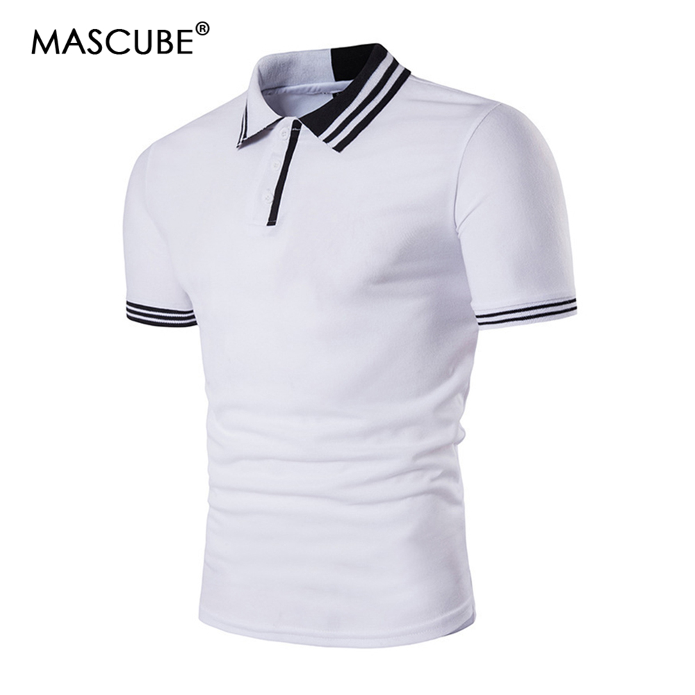 a66f2055 MASCUBE 2018 Fashion Brand Clothing Polo Homme Solid Wholesale Polo Shirt  Casual Men Tee Shirt Tops Cotton Slim Fit Polo Shirts-in Polo from Men's  Clothing ...