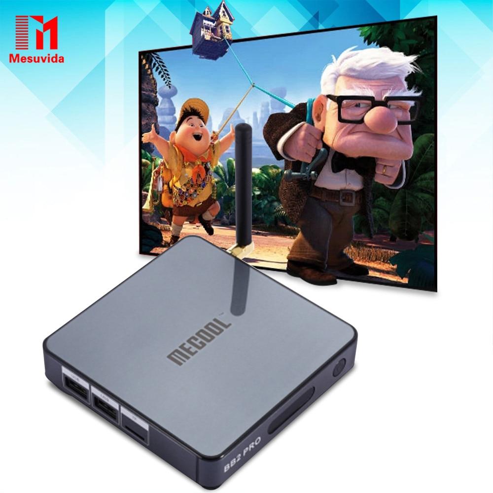 Prix pour Mesuvida MECOOL BB2 Pro 3G/16G Set Top Box Amlogic S912 Octa Core TV Box Android 6.0 BT 4.0 WiFi 2.4G/5.8G KOD17 4 K Lecteur Multimédia