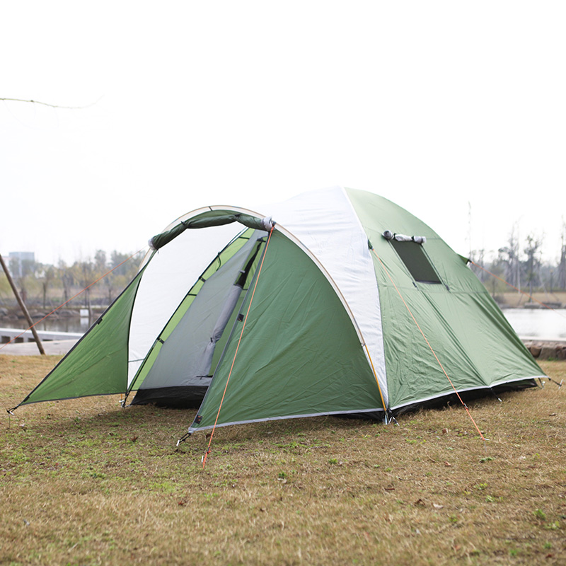 Portable Outdoor Tents for Camping 3 Person Breathable Mesh Tent Lengthening Waterproof Tourist Tent Hiking Fishing Hting Picnic high quality outdoor 2 person camping tent double layer aluminum rod ultralight tent with snow skirt oneroad windsnow 2 plus