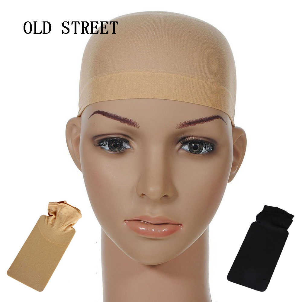 Top Selling Haar Netto Mesh Pruik Cap Stocking Liner Snood Mesh Stretch Naakt Beige Gebruik En Wassen Gemakkelijk Lijmloze Dome haarnetjes Cap