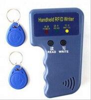 Handheld 125KHz EM4100 TK4100 RFID Copier Writer Duplicator Programmer Reader 2pcs EM4305 T5577 Rewritable ID Keyfobs