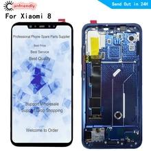 "6.21 ""LCD עבור xiaomi mi 8 mi 8 mi 8 LCD תצוגה + מגע פנל מסך החלפת חיישן Digitizer עם מסגרת הרכבה עבור xiaomi 8"