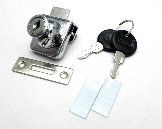 10sets Lot Lock Knob Pull For Single Glass Door Showcase