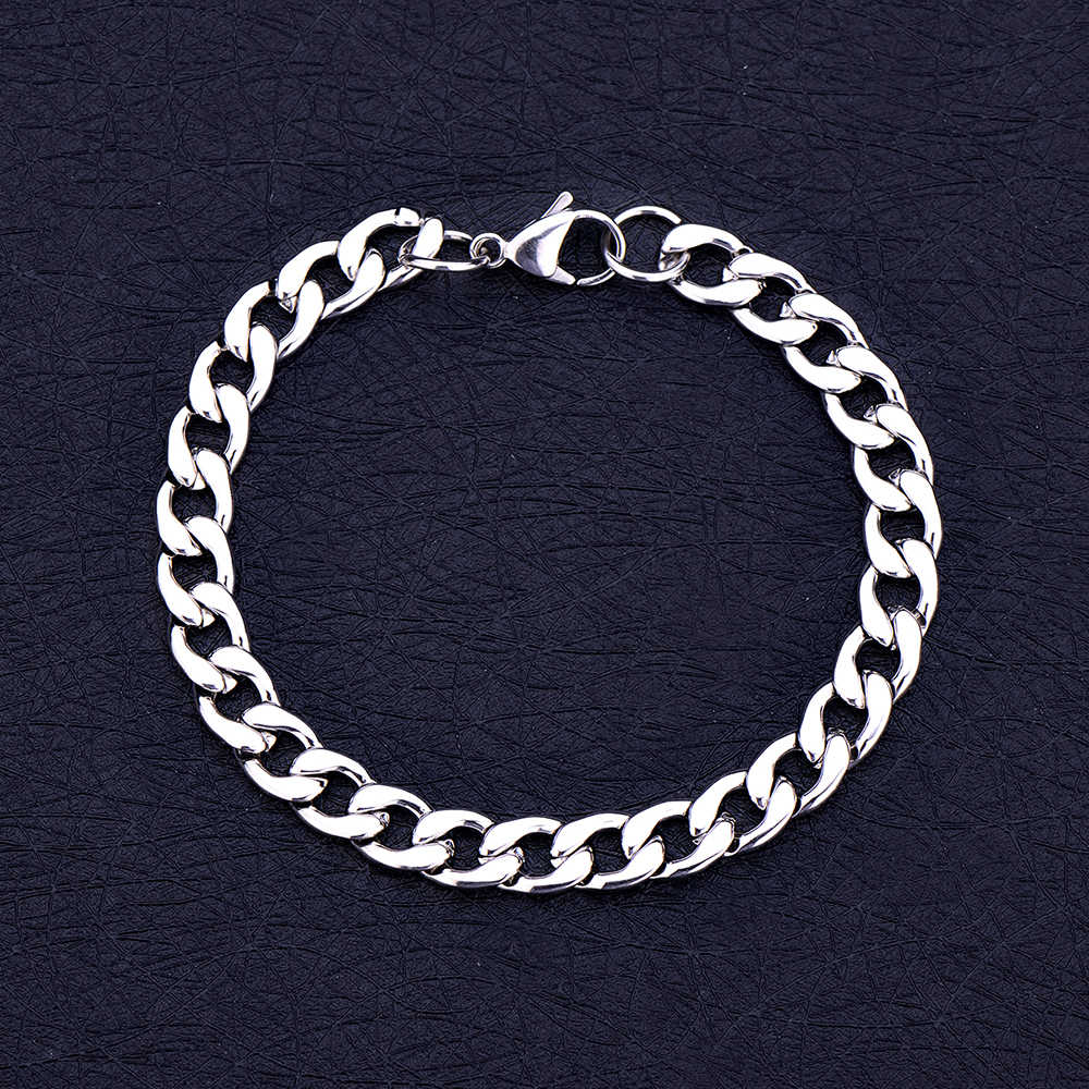 Wholesale low price stainless steel 6MM 8MM 10MM 1:1NK Figaro chain bracelet Fashion men's jewelry Brother gift pulseras