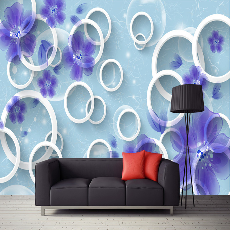 buy custom 3d tv background wall mural