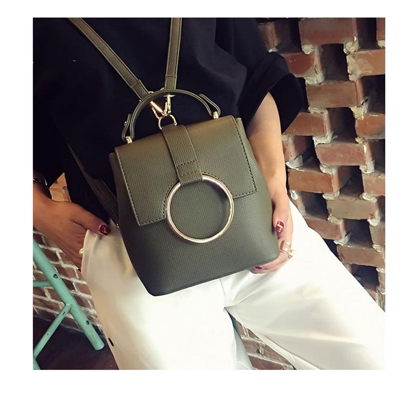 Joypessie Fashion Women Backpack College Mini Shoulder Bag Pu Leather High Quality Girls Small Backpack Female Bag Backpack