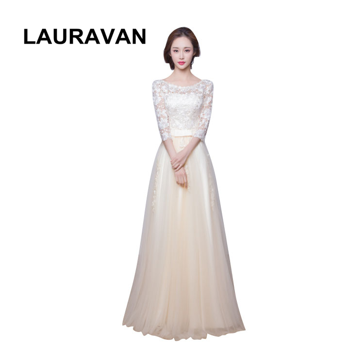 2019 new summer champagne teens women half sleeved   bridesmaid     dress   for brides maids party   dress   ball gown   dresses   for wedding